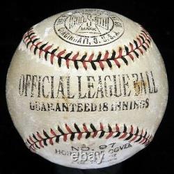Beautiful Jimmie Foxx Single Signed Baseball 1926 Rookie Sig PSA DNA & JSA COA