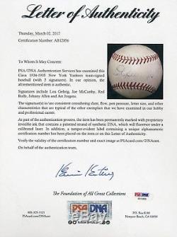 Beautiful Lou Gehrig Signed Autographed American League Baseball PSA DNA COA