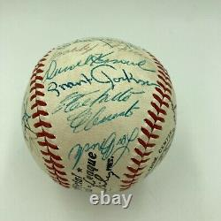 Beautiful Roberto Clemente Joe Dimaggio HOF Legends Signed Baseball PSA DNA COA