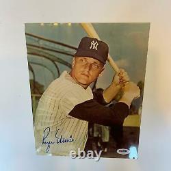 Beautiful Roger Maris Signed 8x10 Photo Mint Autograph With PSA DNA COA Yankees