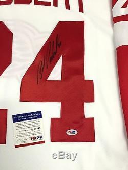 Bob Probert Signed Detroit Red Wings CCM White Jersey Psa/dna Coa