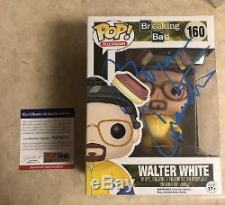 Breaking Bad Funko Pop Set Of 10 Signed Heisenberg Walter White Psa Dna Coa