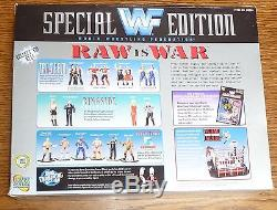 Bret Hart Sunny & Sid Signed WWF WWE 1997 Raw Action Figure Set PSA/DNA COA Auto