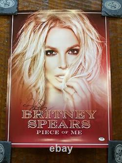 Britney Spears Signed Piece Of Me Tour Poster PSA DNA COA Autographed