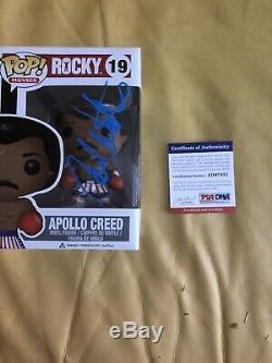 Carl Weathers Signed Apollo Creed Funko Pop Damaged Box Psa Dna Coa