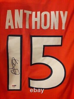 Carmelo Anthony Signed Syracuse Orangemen Custom Jersey Sz XL Psa Dna Coa