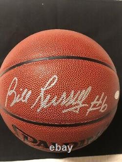 Celtics Bill Russell Signed Basketball Inscribed #6 PSA-DNA COA