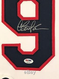 Charlie Sheen Autographed Custom Framed Cleveland Indians Jersey 1 PSA/DNA COA