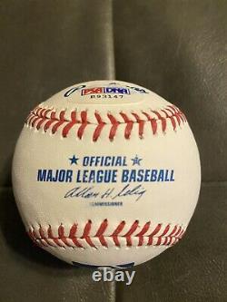 Christian Yelich Signed Auto Baseball PSA DNA rookie COA ROMLB Milwaukee Brewers