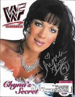 Chyna Signed WWE August 2000 WWF Magazine PSA/DNA COA DX Diva Photo Autograph 00