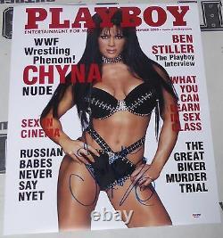 Chyna Signed WWE Playboy 16x20 Photo PSA/DNA COA November 2000 Magazine Poster