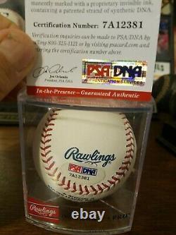 Clayton Kershaw Single Signed OML Baseball L A Dodgers PSA/DNA COA SWEET SPOT