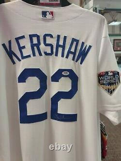 Clayton Kershaw autographed Majestic Stitched Cool Base jersey with PSADNA COA