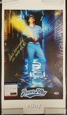 DALE MURPHY Signed 12x18 Canvas Photo Nike Ad + NL MVP Inscription PSA/DNA COA