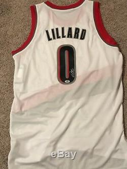 DAMIAN LILLARD Autograph Signed Portland Trail Blazers Jersey PSA/DNA COA