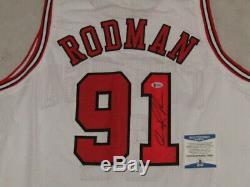DENNIS RODMAN Hand Signed BULLS Jersey 2 + BECKETT COA PSA DNA