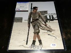 Daisy Ridley Signed Star Wars 8X10 Photo PSA/DNA COA Autograph Sexy