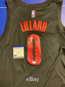 Damian Lillard Signed Jersey PSA/DNA COA Portland Trailblazers Rip City Adult L