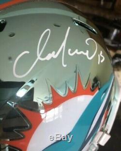 Dan Marino Miami Dolphins Signed Chrome Full Size Helmet Psa Dna Coa Auto Hof