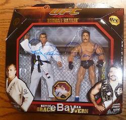 Dan Severn & Royce Gracie Signed Jakks UFC Legends Action Figure PSA/DNA COA 1 4