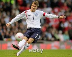 David Beckham Autographed Galaxy Jersey Psa Dna Coa Custom Framed & 8x10 Photo