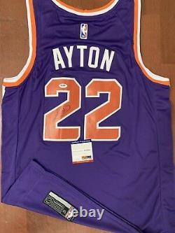 Deandre Ayton Signed Phoenix Suns Jersey Rare Auto+psa/dna Coa