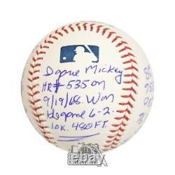 Denny McLain Autographed Official MLB Baseball PSA/DNA COA 16 Inscriptions