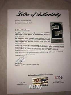 Derek Jeter Signed Auto New York Yankees Jersey Gray HOF WS CHAMP PSA/DNA COA