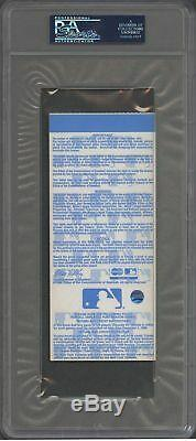 Derek Jeter Signed Autographed 1998 World Series Complete Ticket PSA DNA COA