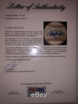 Derek Jeter Signed Baseball With PSA/DNA COA & Letter Of Authenticity