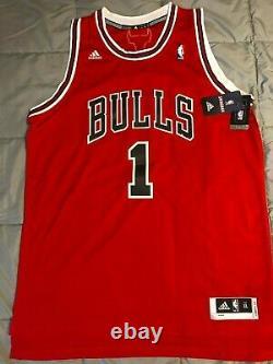 Derrick Rose Autographed Chicago Bulls Adidas Nba Authentics Jersey Psa/dna Coa