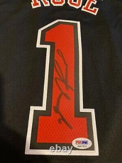 Derrick Rose Autographed XL Adidas Swingman Chicago Bulls Jersey Psa/dna Coa