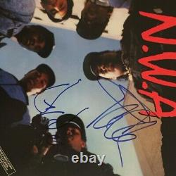 Dr. Dre & Ice Cube Signed NWA Straight Outta Compton Record Album PSA/DNA COA