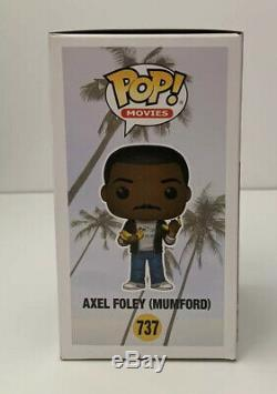 EDDIE MURPHY SIGNED FUNKO POP! AXEL FOLEY (Mumford) #737 PSA/DNA COA #AH50182