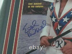 EVEL KNIEVEL Signed SI 8x10 Photo FRAMED Daredevil Autograph RARE PSA/DNA COA