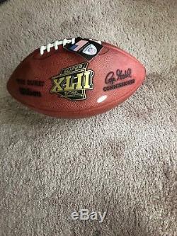 Eli Manning Autographed Super Bowl XLII Football PSA/DNA COA