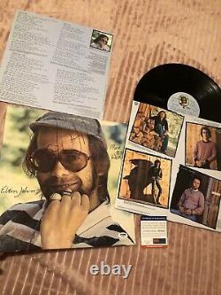 Elton John Autographed Record Album With COA PSA/DNA
