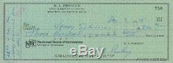Elvis Presley Signed Autographed Personal Check Matted & Framed Psa Dna Coa