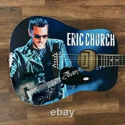 Eric Church Signed Guitar Custom Graphics 1/1 PSA/DNA COA Springsteen