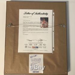 FRAMED Autographed/Signed MICHAEL JORDAN Chicago Bulls 8x10 Photo PSA/DNA COA