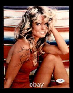 Farrah Fawcett PSA DNA Coa Signed Iconic 8x10 Photo Certified Autograph