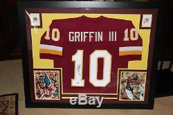 Framed ROBERT GRIFFIN III #10 Autographed REDSKINS Jersey Signed PSA/DNA COA