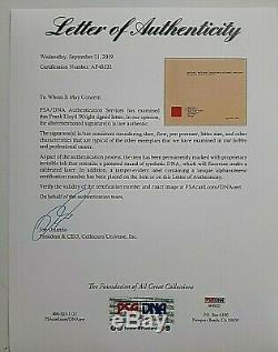 Frank Lloyd Wright Letter Signed To Ruth Dayer W Envelope Dated 1945 Coa Psa Dna