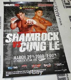 Frank Shamrock & Cung Le Signed 2008 StrikeForce MMA Poster PSA/DNA COA UFC Auto