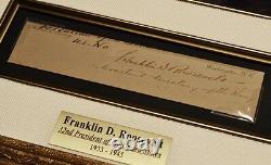 Franklin Roosevelt, FDR Signed Autograph, COA, UACC, PSA/DNA Guaranteed, FRAME