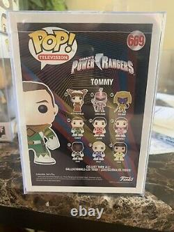 Funko Pop! Power Rangers #669 Tommy Signed By Jason David Frank With Psa/dna Coa