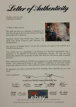 Gene Wilder + Willy Wonka Kids x6 cast signed 12x18 Garden Photo PSA/DNA LOA COA