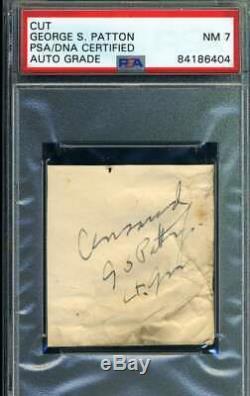 General George Patton PSA DNA Coa Signed Cut Signature Autograph