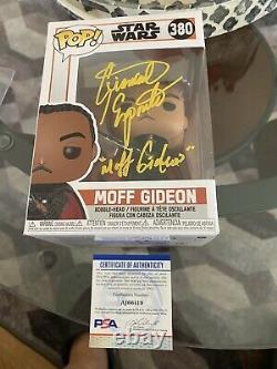 Giancarlo Esposito Signed Funko Pop PSA/DNA COA Moff Gideon #380 Star Wars