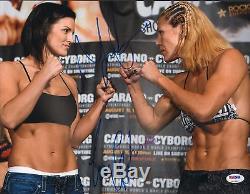 Gina Carano & Cris Cyborg Signed 11x14 Photo PSA/DNA COA StrikeForce UFC Picture